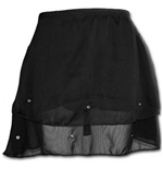 Spiral - Gothic Elegance - Chiffon Stud Skirt Black (gonna Donna )