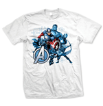 Avengers - Group Assemble Bianco (T-SHIRT Unisex )