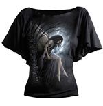 Spiral – Angel Lament - Boat Neck Bat Sleeve Black (maglia Donna )