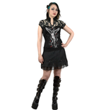 Spiral – Sky Angel - Lace High Neck Corset Black (maglia Donna )