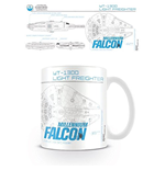 Star Wars Episode VII - Millenium Falcon Sketch (Tazza)