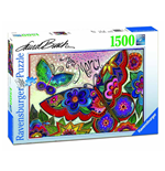Ravensburger 16332 - Puzzle 1500 Pz - Laurel Burch - Farfalle Colorate