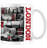 London - Red Collage (Tazza)