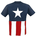 Captain America - Star And Stripes Cut And Sew Style (T-SHIRT Unisex )