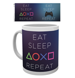 Playstation - Eat Sleep Repeat (Tazza)