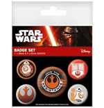 Star Wars Episode VII - Resistance (Pin Badge Pack)