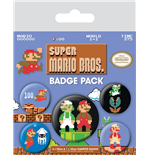 Super Mario Bros. - Retro (Pin Badge Pack)