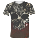 T-shirt Walking Dead - Walkers Skull Full Printed