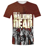 T-shirt Walking Dead - Hands Logo Full Printed
