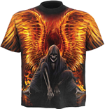Flaming Death - Allover (T-SHIRT Unisex )