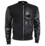 Urban Fashion Bomber Jacket With Pu Leather Sleeves (giacca Uomo )