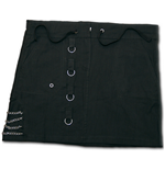 Gothic Rock - Side Chains Skirt Black (gonna Donna )
