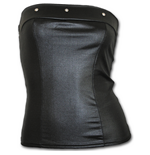 Gothic Rock - Leatherlook Corset Black (T-SHIRT Unisex )