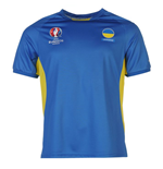 T-shirt Ucraina Calcio (Blu)