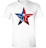 T-shirt Captain America - Civil War - Cracked Star Bianca