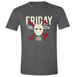 Friday The 13TH - Crossing Weapons Anthracite (T-SHIRT Unisex )