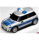 Carrera - Pull & Speed - Mini Cooper Polizei Con Luci E Suoni