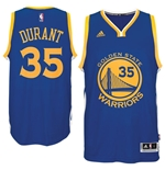 Maglia Golden State Warriors Kevin Durant adidas Royal Blue New Swingman Road