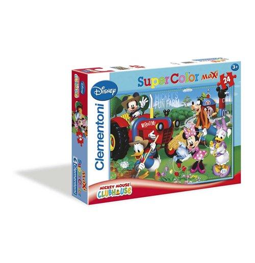 Puzzle maxi 24 pz la casa di topolino fattoria per for La fattoria di topolino