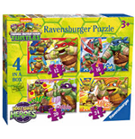 Ravensburger 07099 - Puzzle 4 In A Box - Teenage Mutant Ninja Turtles - Mini Heroes