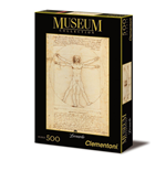 Puzzle 500 Pz - Museum Collection - Leonardo - Uomo Vitruviano