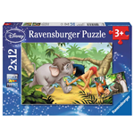 Ravensburger 07587 - Puzzle 2x12 Pz - Jungle Book