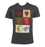 T-shirt Il trono di Spade (Game of Thrones) House Squares