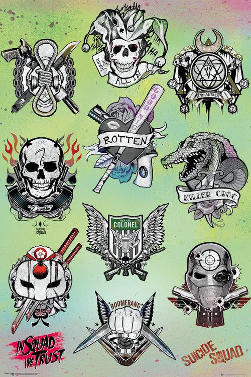 Poster suicide squad tattoo parlour per soli 226 172 4 52 su