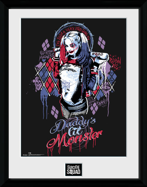 Poster Suicide Squad Harley Quinn Monster Incorniciato