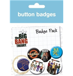 Big Bang Theory - Characters (Pin Badge Pack)