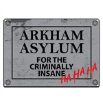 Batman - Arkham Asylum Tin Sign Small (Targa Metallica Piccola)