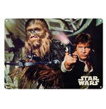 Star Wars - Han Solo And Chewbacca (Targa Metallica Grande)