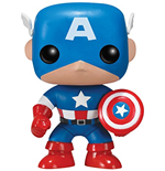 Funko - Pop! Bobble - Marvel - Captain America