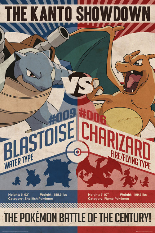 Poster Pokémon Red v Blue