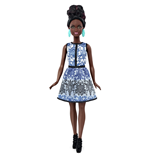 Mattel DMF27 - Barbie Fashion And Beauty - Fashionistas 25 Broccato Blu