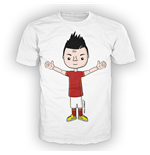 T-shirt bambino grafica ALL IN CLARET