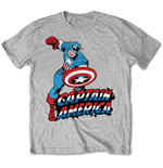 Marvel Comics - Simple Captain America Grey (T-SHIRT Unisex )