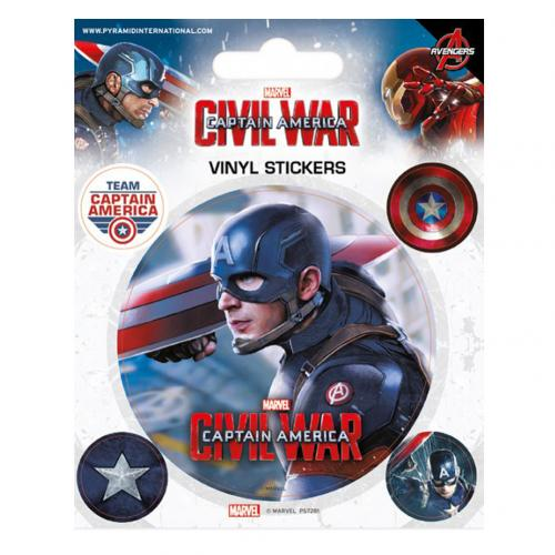 Set Adesivi Captain America Civil War