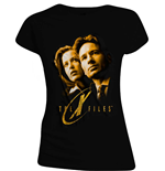 X Files - Mulder And Scully Gold (T-SHIRT Donna )