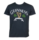 T-shirt Guinness Distressed Harp And Clover