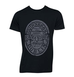 T-shirt Guinness Distressed Black Label