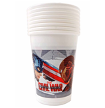 Captain America - Civil War - 8 Bicchieri Plastica 200 Ml