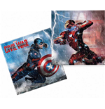 Captain America - Civil War - 20 Tovaglioli Carta Doppio Velo 33x33 Cm