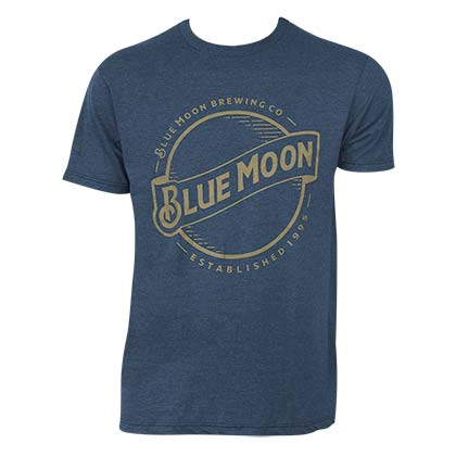 T-shirt Blue Moon Gold Logo