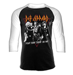 Def Leppard - Pouring Sugar (T-SHIRT Manica Lunga Unisex )