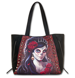 Day Of The Dead Tote Bag - Top Quality Pu Leather Studded (Borsa)