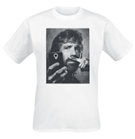Chuck Norris - Selfie With Moustache Finger White (T-SHIRT Unisex )
