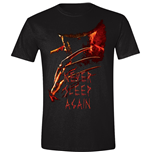 Nightmare On Elm Street - Never Sleep Again Poster Black (T-SHIRT Unisex )
