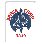 Nasa - Space Camp (Targa Metallica Piccola)