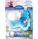 Dulcop Bubble World - Bolle Di Sapone - Pistola Bolle Con Luci Media - Frozen - Blister 1 Pz 60 Ml